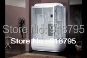 Square luxury steam shower enclosures bathroom steam shower cabins jetted massage sauna rooms RS8001 8 shower rooms cabins pulley