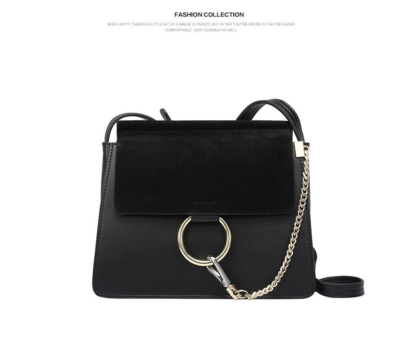 100% Genuine Leather Women Shoulder Bags Famous Brand Metal Ring Chains Women Crossbody Bags Retro Natural Leather Lady Handbag (19)