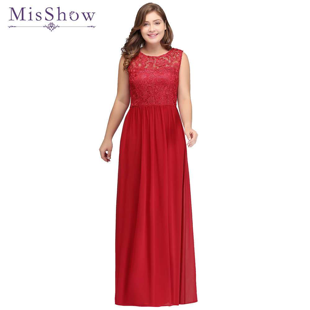 vestidos de gala de noche Plus Size Evening Dresses 2019 Red Long Formal Prom Gown Dress Elegant Sleeveless Evening Party Dress