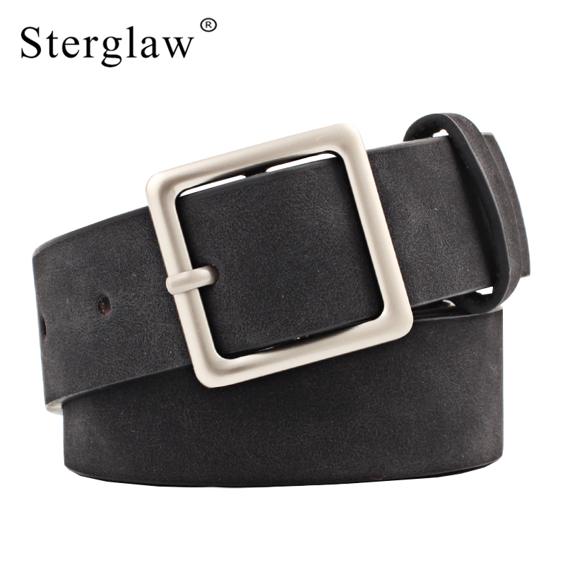 NEW ! 2020 Fashion Female Designer Belts Women High Quality Square Pin Buckle 3cm Wide Belt For Woman Jeans Cinto Feminino N041