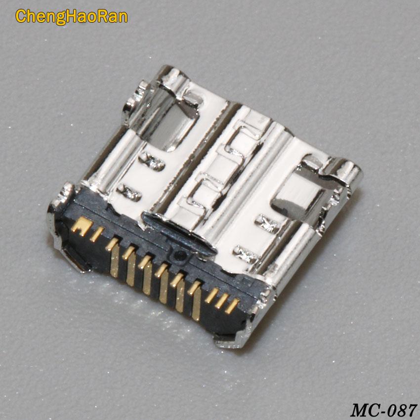 ChengHaoRan 2PCS USB Charge Jack Socket Connector 11pin For font b Samsung b font Galaxy Tab