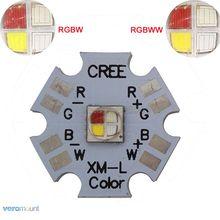 5 шт./лот! Cree XLamp XM-L XML RGBW RGB белый или светильник с новой уникальной технологией рассеивания света cо теплый белый Цвет 12 Вт высокой мощности Мощность светодиодный излучатель 4-чип 20 мм звезды печатной платы