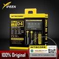100% original nitecore d4 digicharger lcd circuito inteligente li-ion 18650 14500 26650 10440 aa aaa carregador de bateria de carro