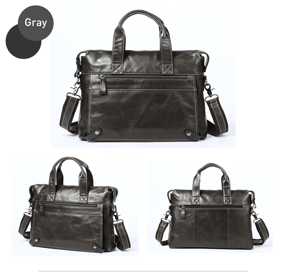8 men bag genuine leather
