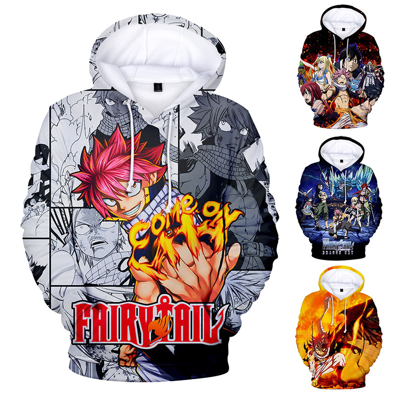 FAIRY TAIL Men Women Cosplay Hoodie 3D Print Pullover Long Sleeve Top Sweatshirt