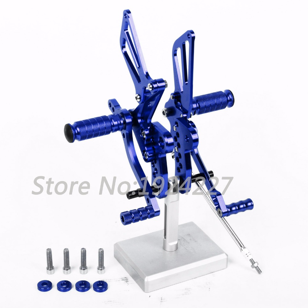 Motorcycle CNC Adjustable Foot Pegs Rear Set For Suzuki GSXR 1300 Hayabusa 1999-2007 Hot Sale Motorcycle Foot Pegs Blue