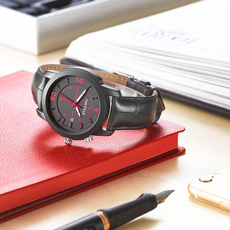 Montre à Quartz ronde classique en cuir pour hommes et femmes montre Bluetooth bracelet intelligent IP67 étanche pour Android et ios
