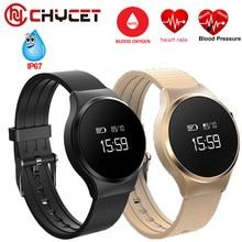 Chycet Smart Band A68 спортивный браслет сердечного ритма крови кислородом Давление монитор сна Спорт трекер умный Браслет Водонепроницаемый A86