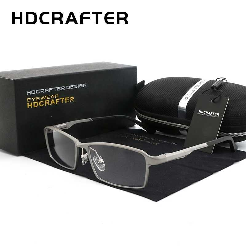 HDCRAFTER TR90 17g Lightweight Glasses Frame Myopia Hyperopia Prescription Eyeglasses Frames Reading Clear Glasses Frame Men