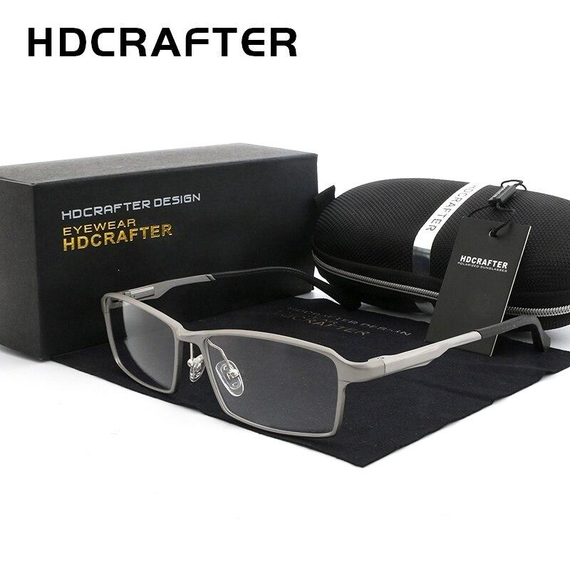 HDCRAFTER TR90 מסגרות משקפיים קוצר ראיה מסגרת משקפיים מרשם רוחק קל משקל 17 גרם גברים מסגרת קריאה ברורים