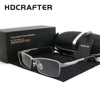 HDCRAFTER TR90 17g lekkie okulary rama krótkowzroczność nadwzroczność okulary korekcyjne ramki do czytania przezroczyste oprawy do okularów mężczyzn tanie i dobre opinie Okulary akcesoria FRAMES Stałe Unisex Tytanu L-P6287 Glasses Frame 150mm 139mm 20mm 36mm 61mm