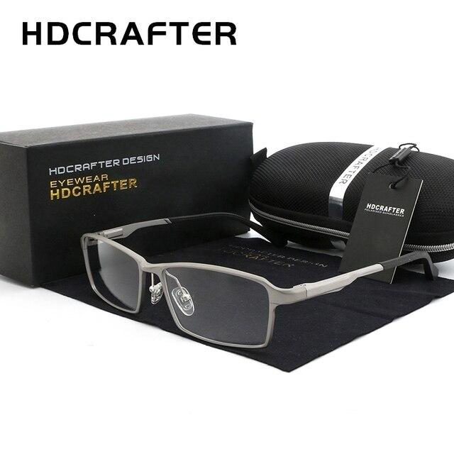 HDCRAFTER lunettes légères TR90, monture 17g pour la myopie et lhypermétropie, Prescription, montures pour lunettes de lecture transparentes pour hommes