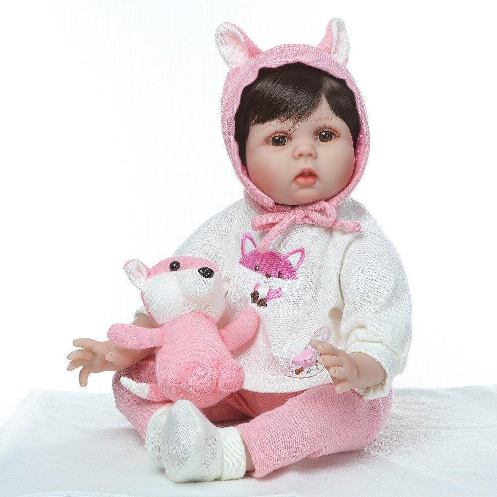 NPK lebensechte boneca reborn baby puppe 55 cm weiche echt touch vinyl silikon spielzeug für kinder auf geburtstag brinquedo menina-in Puppen aus Spielzeug und Hobbys bei  Gruppe 1