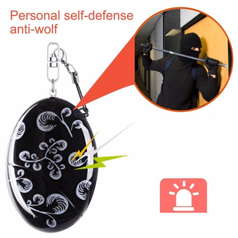 Mini self defense supplies emergency personal alarm security alarm anti-rape safety alarm for Girl women as car key chain