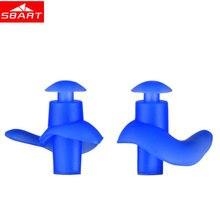 SBART Spiral Waterproof Swimming Earplugs Adult Silicone Swim Dive Professional Anti-noise Dustproof Soft Boxed Storage