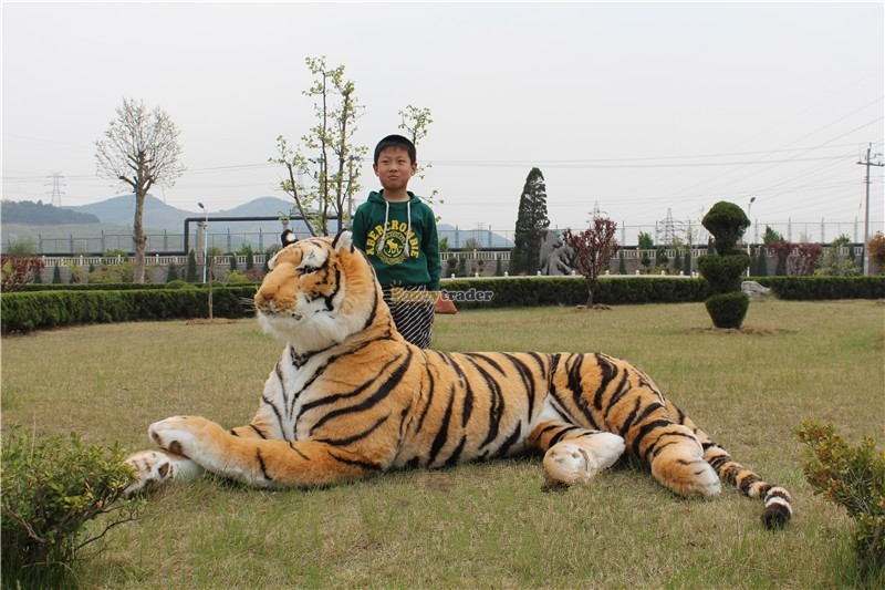 Fancytrader Just As Real Tiger! 87\'\' 220cm Rare in World! Huge Giant Plush Stuffed Emulational Tiger FT90282 (1)