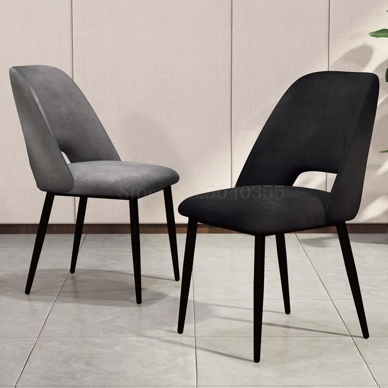 Nordic Dining Chair Home Tea Shop Net Red Coffee Shop To Discuss Desk Chair Modern Minimalist Light Luxury Dining Chair