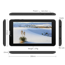 Yuntab 7  »E706 GPS Tablet Double SIM Mini Carte 1.3 GHz Quad Core Cortex A7 1024*600 IPS Double Caméra 1 GB + 8 GB Appel Téléphonique Tablet PC