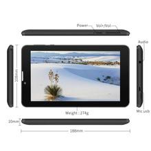 Yuntab 7 »E706 GPS Tablet Double SIM Mini Carte 1.3 GHz Quad Core Cortex A7 1024*600 IPS Double Caméra 1 GB + 8 GB Appel Téléphonique Tablet PC