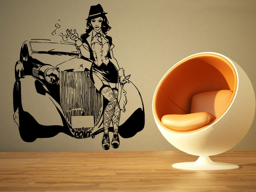 Buy gangster girl wall art and get free shipping on AliExpress.com