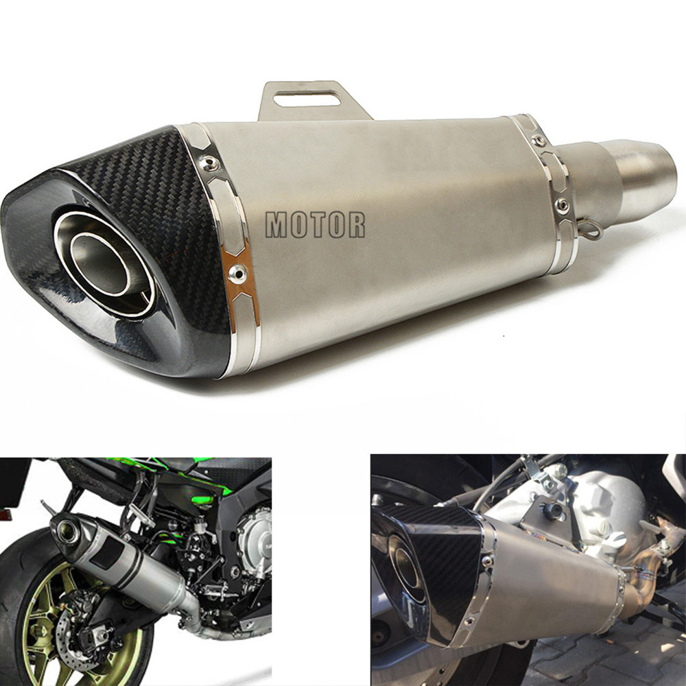 51MM Universal Motorcycle Exhaust Pipe Moto Muffler Escape Pipe tail  Stainless Steel For BMW R850R R 1100 S RS GS R RT R1150R