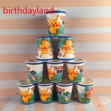 10pcs Movie Character kids happy birthday party decoration cups for people use supplies
