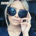 Moda Ojo de Gato Gafas de Sol Vintage Mujer Gafas de Sol de Las Señoras Retro Diseñador de la Marca Para Mujer Capa de Espejo de La Lente Oculos RS023