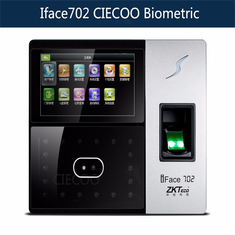 Gute Qualität 1200 Gesicht Benutzer Iface800 Gesicht Und Fingerprint Zeit Teilnahme Access Control System Sicherheit & Schutz