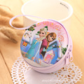 Hot Sale Cartoon Elsa Anna Coin Key Case Wallet Earphone Headset Bag Box Coin Packet Kids Birthday Gift Free Shipping