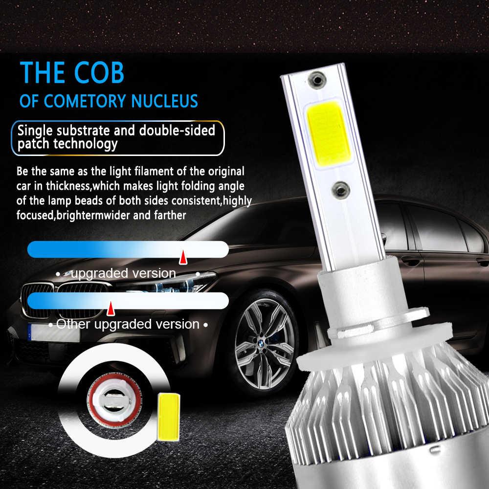 CROSSFOX 2Pcs Car Lights Bulbs LED H4 H7 9003 HB2 H11 LED H1 H3 H8 H9 880 9005 9006 H13 9004 9007 LED Lamp Auto Headlights