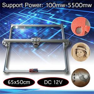 Image 1 - 65x50cm 100mw 5500mw DIY pulpit Mini Laser do cięcia/grawerowania maszyna do grawerowania DC 12V przyrząd do cięcia drewna/drukarka/regulacja mocy