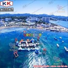Надувной водный аттракцион aqua adventure из ПВХ на заказ 09