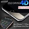 Borde Curvo LEWEI 3D 4D FRÍA TALLA Completa Cubierta de Vidrio Templado para iphone 7 s 6 6 s plus premium screentoughened protectora de vidrio