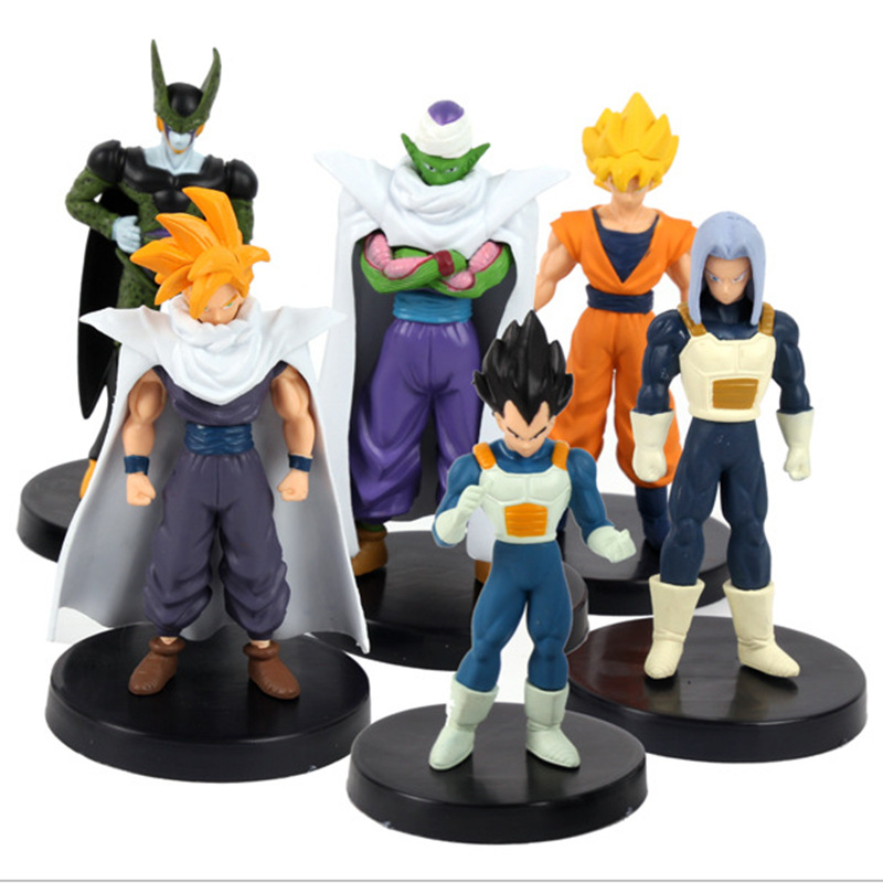 6 pcs/lot Anime Dragon ball Z 24th generation The first adventure PVC Action Figure Toys 15cm Gifts
