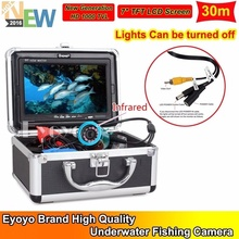 Free Shipping!EYOYO 30m Infrared Light 7″ LCD Fish Finder Underwater Camera w/Lights Control