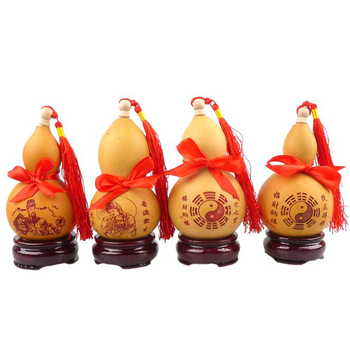 Long Yi natural gourd ornaments color size Home Furnishing opening decoration process