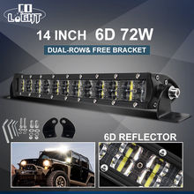 CO LIGHT 6D 14inch Light Bar Offroad 72W Spot Flood Combo Led Work Light Bar for Truck SUV ATV 4WD 4x4 Auto Driving Lamp 12V 24V 14inch offroad led work light bar combo beam 12v 24v car auto ute suv atv wagon camper trailer truck 4x4 4wd pickup driving lamp