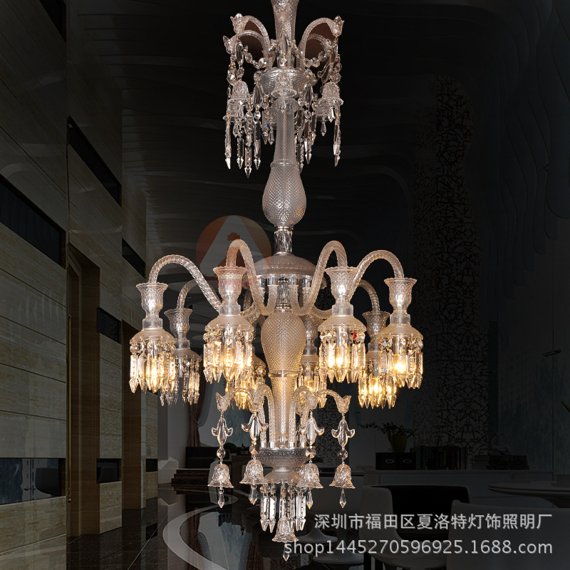 d700mm h1100mm luxury chandelier crystals sale french crystal pendant nordic luxury villa staircase double