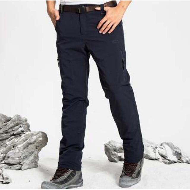778acda4436 Winter New WaterProof Pants Man s Thicken Long Pants Polartec Warm Pants  Plus Size XXXL-5XL Combat Trousers Men Bottoms