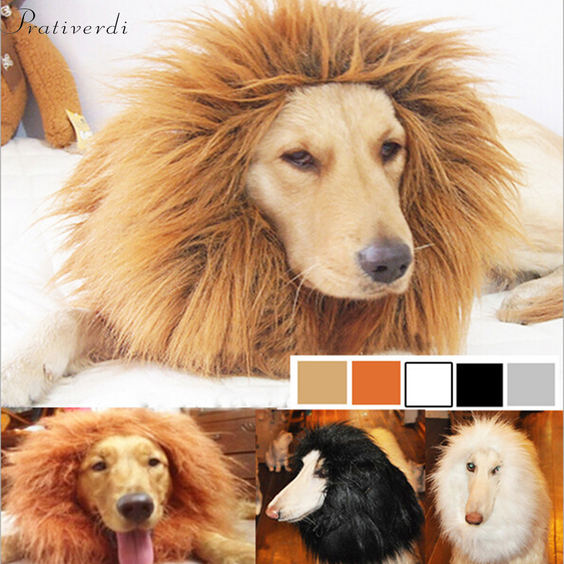 Cute Pet Cosplay Clothes Transfiguration Costume Lion Mane Winter Warm Wig Cat large Dog Party Decoration With Ear Pet Apparel3