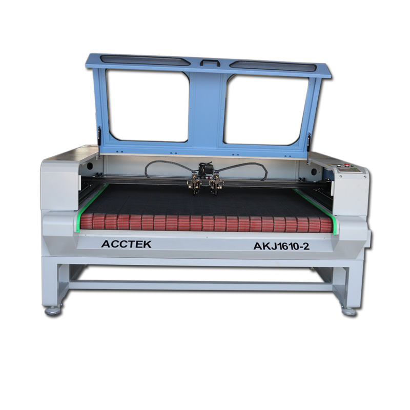 Cloth jeans cnc cutting laser machine with double laser heads/ factory price cnc laser cutter for fabric cutting