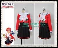 Magic knight rayearth hikaru shidou uniforme costume cosplay vendita al dettaglio all'ingrosso