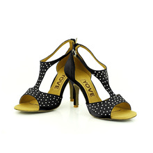 YOVE Dance Shoe Satin Women's Latin/ Salsa Dance Shoes 3.5″ Slim High Heel More Color w133-8