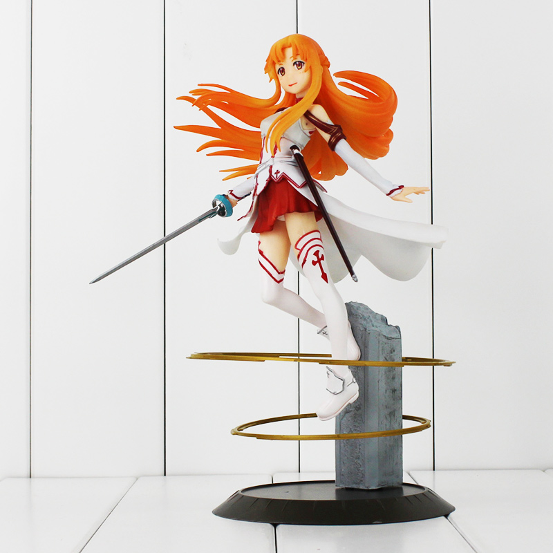 New 25cm Sword Art Online Figure SAO Asuna PVC Model 1/8 Scale Pre-painted Figure Toy Asuna for Collection 23cm high quality sword art online model yuki asuna action figure sao asuna figure toy