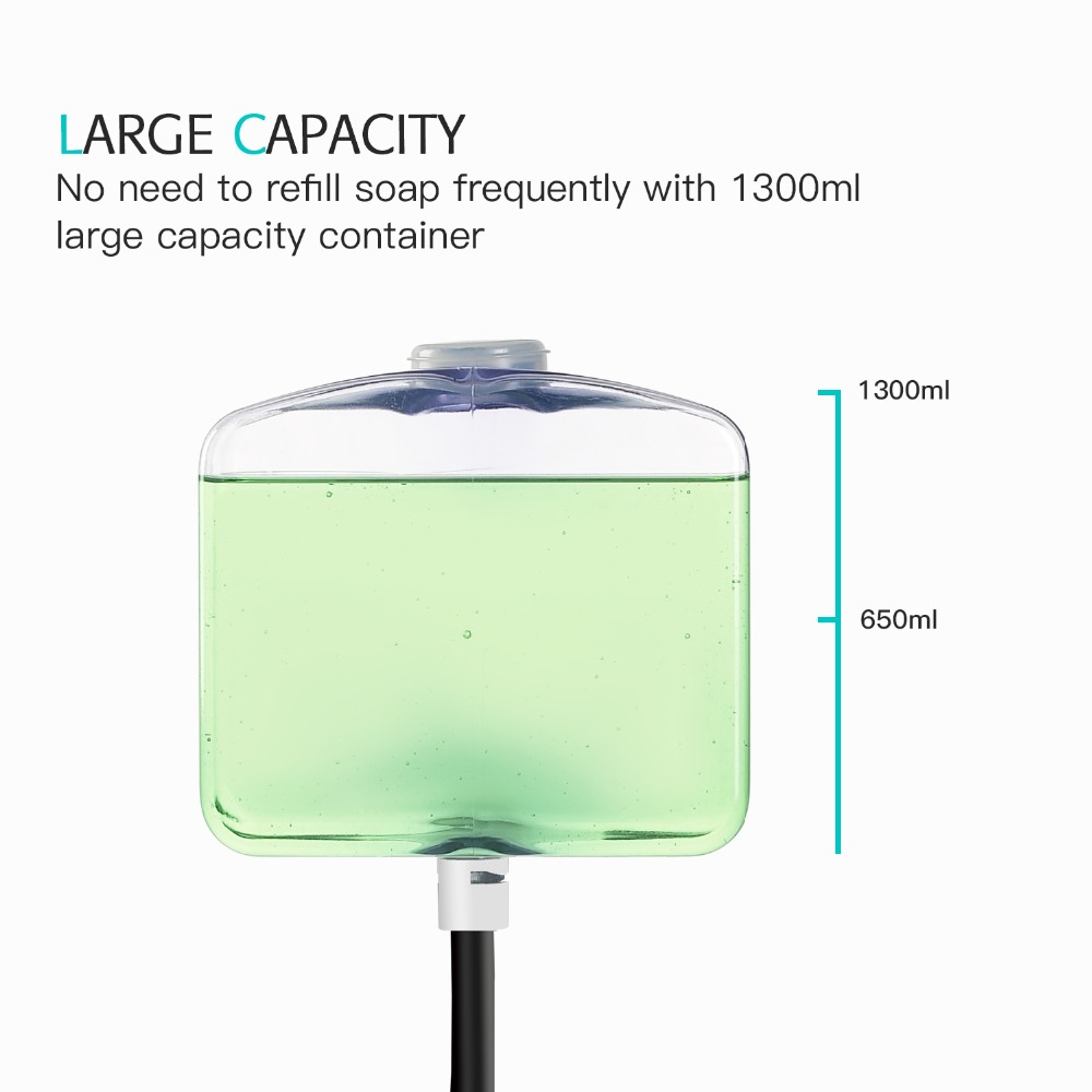 Image 4 - 1300ml Wall Mounted Sensor Touchless Automatic Soap Dispenser Kitchen Infrared Induction Smart Liquid Soap Dispenser-in Liquid Soap Dispensers from Home Improvement
