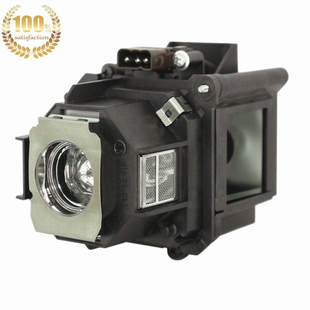 WoProlight ELPLP46 / V13H010L46 Ersatzlampe mit Gehäuse für Epson - Heim-Audio und Video