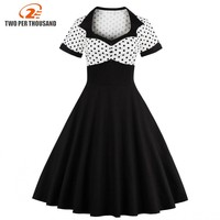 2017 Summer Women Dress Retro 1950s 60s Dress Female Polka Dots Pinup Rockabilly Sexy Party Dresses