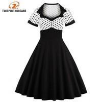 2017 Summer Women Dress Retro 1950s 60s Dress Female Polka Dots Pinup Rockabilly Sexy Party Dresses