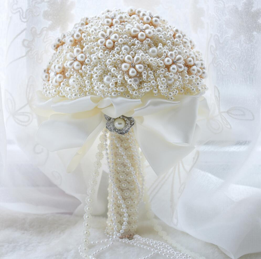 AYiCuthia 絹の結婚式の花ラインストーンジュエリー赤面ピンクのブローチ花束ゴールドブローチ花嫁のウェディングブーケ S79  グループ上の ウェディング & イベント からの ウェディング ブーケ の中 1