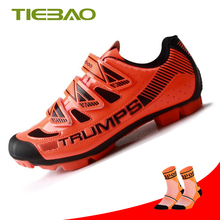 Tiebao Professional Men MTB Cycling Shoes fietsschoenen Self-locking Bicycle zapatillas ciclismo Non-slip triathlon